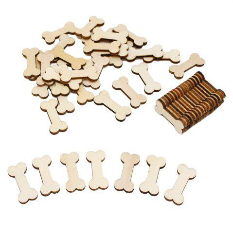 Buy 141003 Wood Bone Modeling Handmade DIY Accessories Creative Photo Album Handmade Piece (50 Installed)