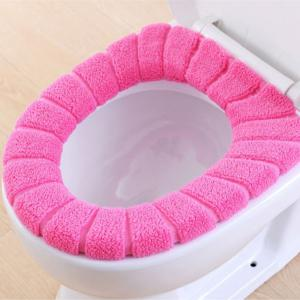 O-Shape Toilet Seats Warm Thick Knitted Pumpkin Pattern Toilet Seat Cushion Diameter -
