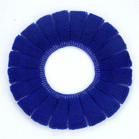 Affordable O-Shape Toilet Seats Warm Thick Knitted Pumpkin Pattern Toilet Seat Cushion Diameter