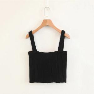 Elastic Knit Harness Bra Top -
