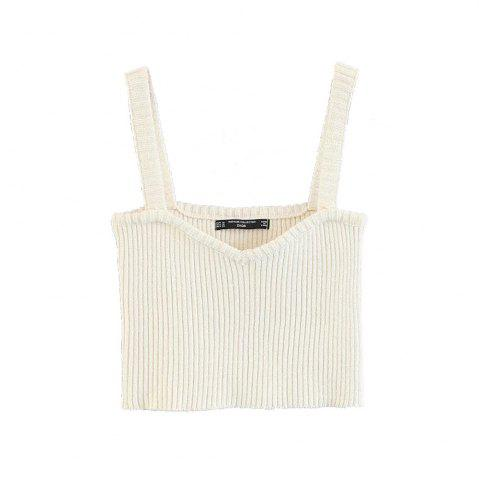 Store Elastic Knit Harness Bra Top