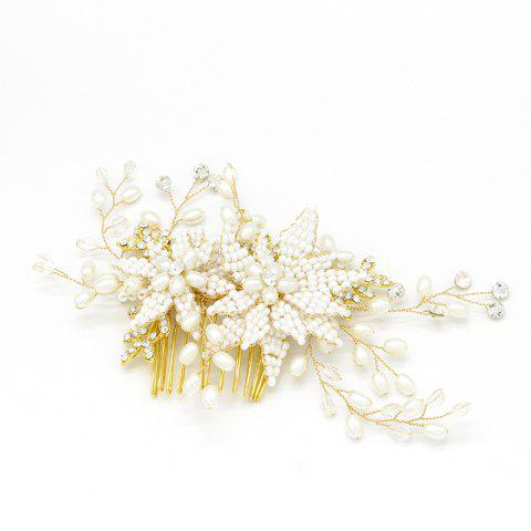 Discount Women Wedding Bride Handmade Pearl Crystal Hair Combs Hair Jewelry