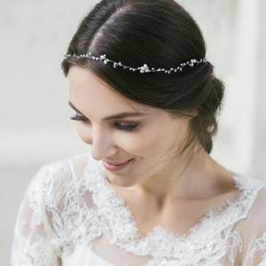 Full Crystal Headband Hair Jewelry for Wedding Women Party -