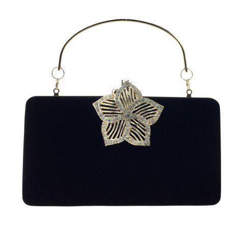 Fancy Women Bags Velvet Evening Bag Buttons Crystal Detailing for Wedding Event/Party Formal