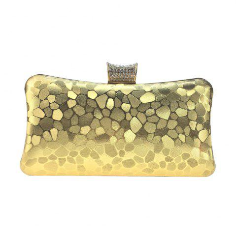 Online Women Bags leatherette Evening Bag Buttons Crystal Detailing for Wedding Event/Party