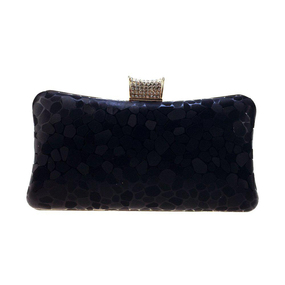 New Women Bags leatherette Evening Bag Buttons Crystal Detailing for Wedding Event/Party