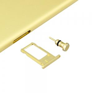Metal 2 in 1 Sim Card Needle and 3.5MM Earphone Jack Dust Plug -