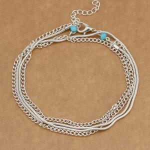 National Wind New Wild Multi-Layered Vintage Anklet -