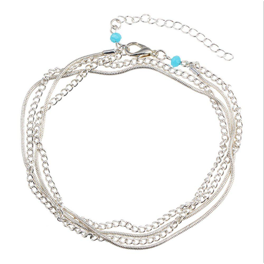 Unique National Wind New Wild Multi-Layered Vintage Anklet