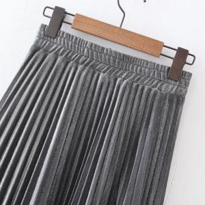 Women's Fashion Flash Metallic Pleated Skirts -