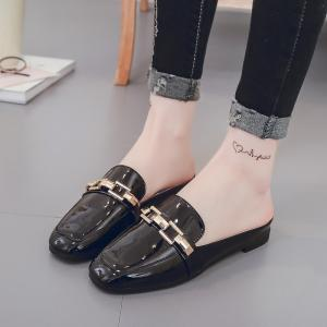 All-Match Half Metal Buckle Leisure Slippers -