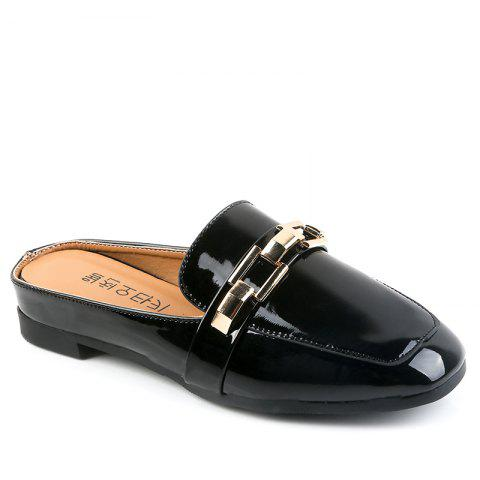 Affordable All-Match Half Metal Buckle Leisure Slippers
