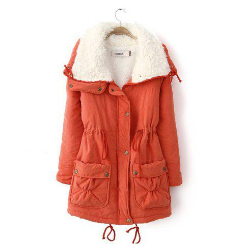 Hot Women Medium Long Cotton-Padded Clothes Plus Size Coat