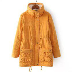Women Medium Long Cotton-Padded Clothes Plus Size Coat -