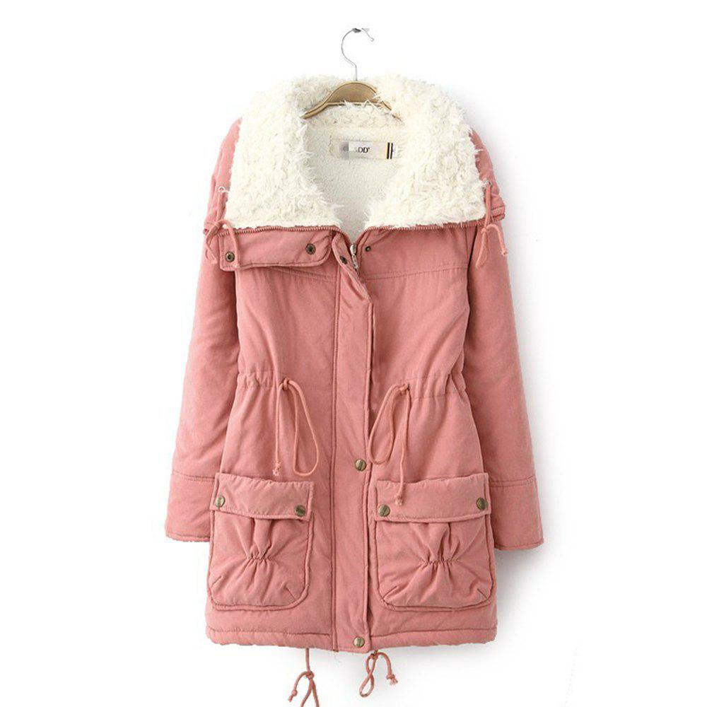 Buy Women Medium Long Cotton-Padded Clothes Plus Size Coat