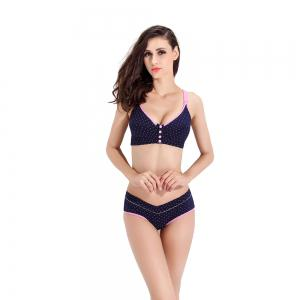 Pregnant Women Underwear Set Breast Feeding Bra No Steel Ring -