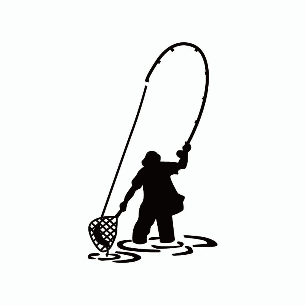 S Dsu Fly Fishing Fisherman Trout Fish Funny Vinyl Wall Sticker Home Decor