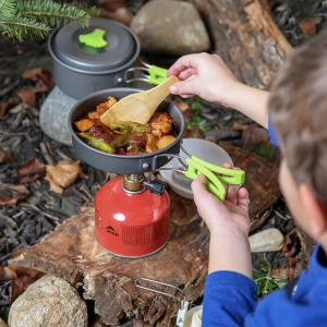 Outdoor Cookware Set Cooking Utensils Lightweight Compact Pot Pan Bowls for Camping Hiking Backpacking and Picnic -