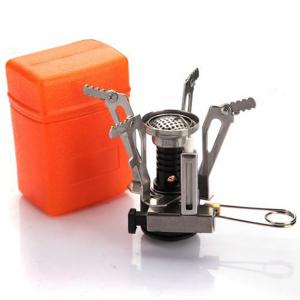 Mini Portable Collapsible Outdoor Camping Backpacking Stoves with Piezo Ignition 2PCS -