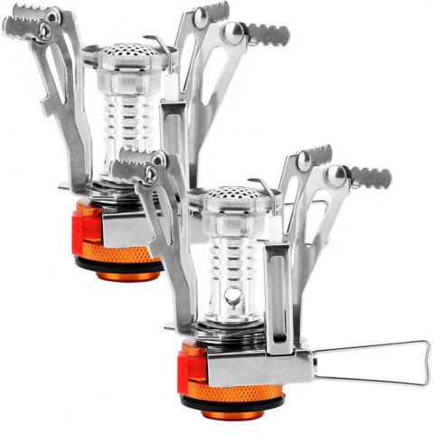 Latest Mini Portable Collapsible Outdoor Camping Backpacking Stoves with Piezo Ignition 2PCS