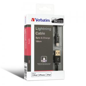 Verbatim 8 Pin Fast Charge Data Sync Cable for iPhone 8 -