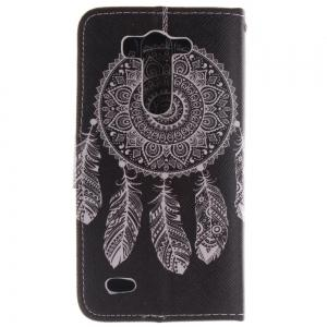 Cover Case For LG G3 Mini Black Wind Chimes PU+TPU Leather with Stand and Card Slots Magnetic Closure -