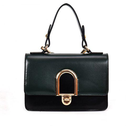 Buy Contrast Color Messenger Shoulder Bag