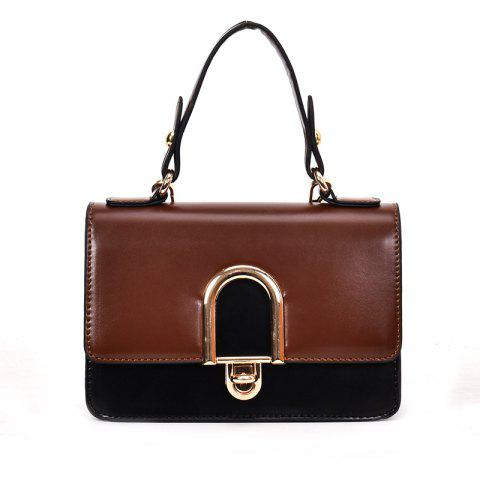Sale Contrast Color Messenger Shoulder Bag
