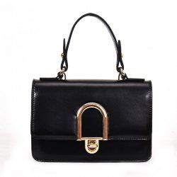 Contrast Color Messenger Shoulder Bag -