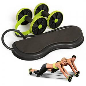 Belly Muscle Fitness Round Wheel Mute Tension Rope -