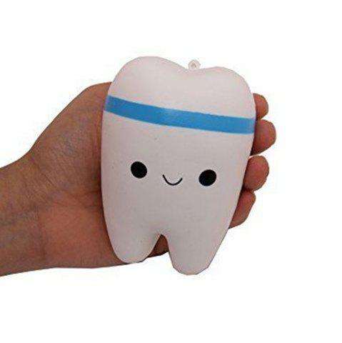 Online New Cute Creative Smiley Tooth Very Soft Slow Rising Squeeze Rare Kids Toy
