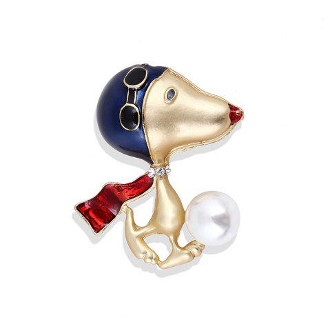 Chic Lovely Enamel Dog Brooch Jewelry For Women Girls Fashion Gold Alloy Crystal Color Suit Lapel Animal Pin Brooches