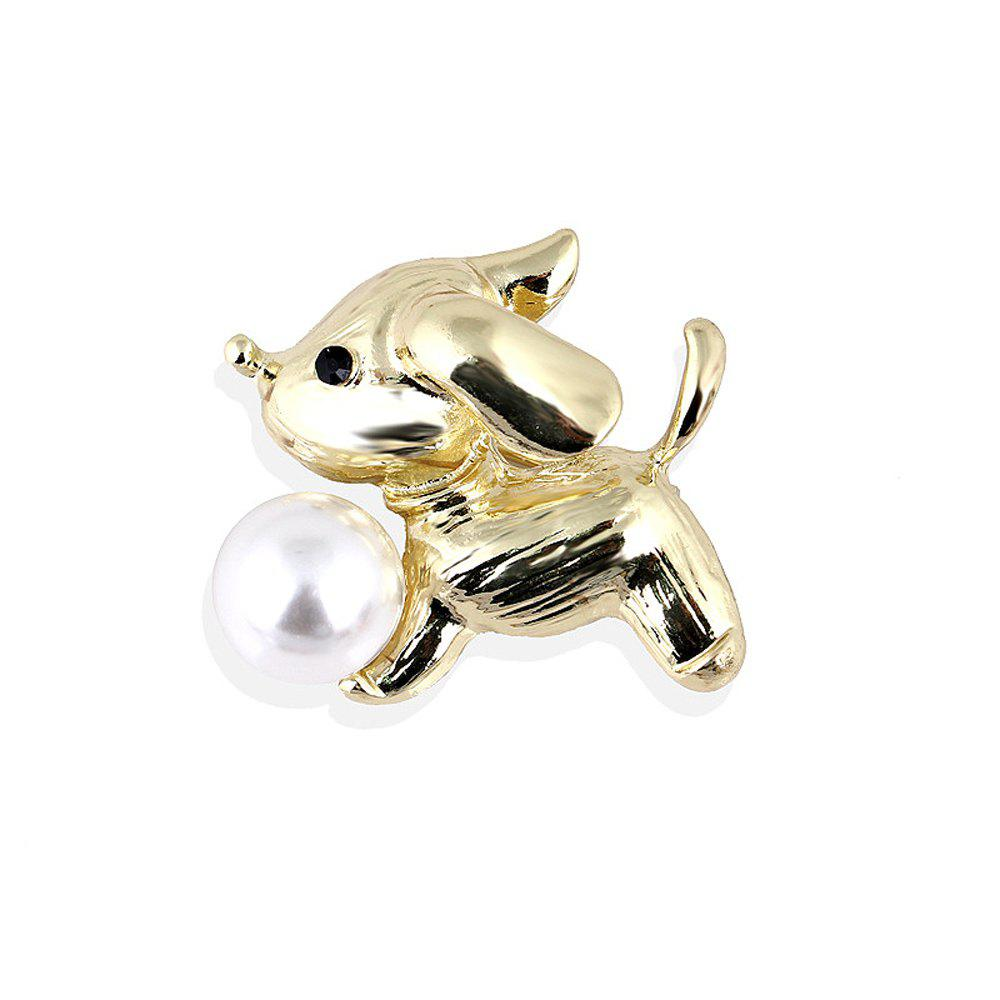 Chic New Arrival Fashion Cute Dog Brooch for Women Men Lovely Pearl Pins Brooches Fresh Water Sweater Suit Scarf Jewelry Cors