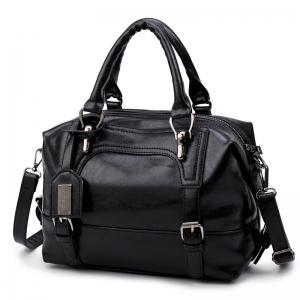 Oil Wax Leather Shoulder Bag Retro Fashion Hand-Held Large Capacity Soft Leather Messenger Bag -