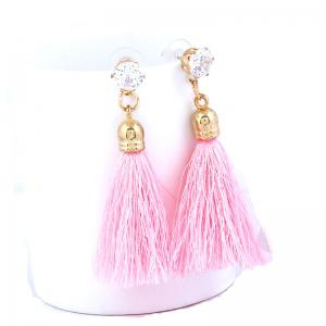 New Fashion Bohemia Ethnic Style National Decoration Rhinestone Crystal Colorful Women Drop Tassels Earrings -