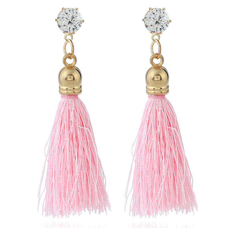 Unique New Fashion Bohemia Ethnic Style National Decoration Rhinestone Crystal Colorful Women Drop Tassels Earrings