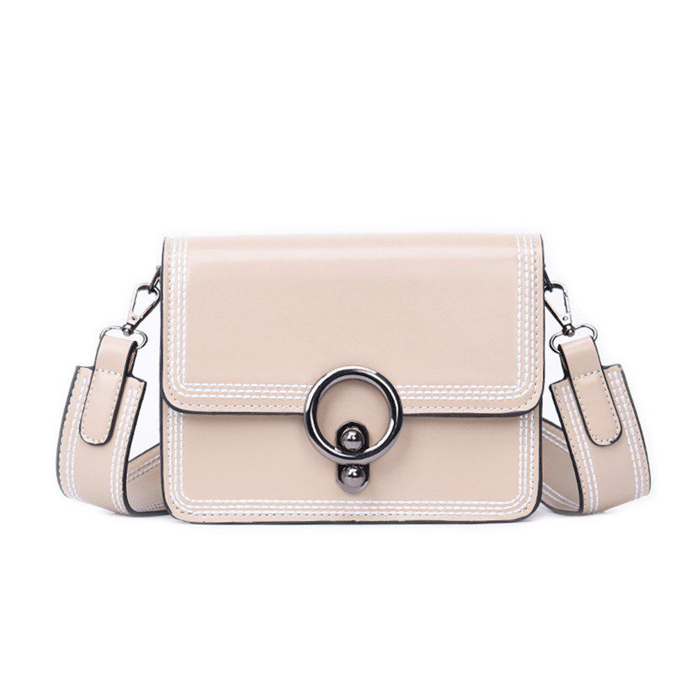 Online Female Diagonal Wide Strap Wild Girl Small Satchel Bag