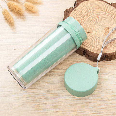 Cheap Hot Sale Double Wall Wheat Straw Readily Cup 301-400ML Coffee Thermal Bottle