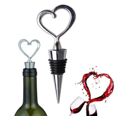Outfit 1 Pc Heart Shaped Wine Stopper Zinc Alloy Red Wine Champagne Wine Bottle Stopper Vacuum Retain Freshness Bottle