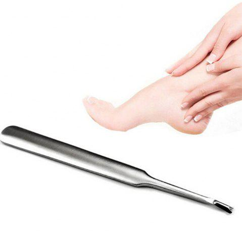 Outfits Stainless Steel Cuticle Pusher Dead Skin Fork and Nail File Buffer Tool