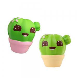 Funny Squishies Cactus Slow Rising Toys Rainbow Jumbo Cream Scented Time Killer Squeeze Kid Toy Charm Gift -
