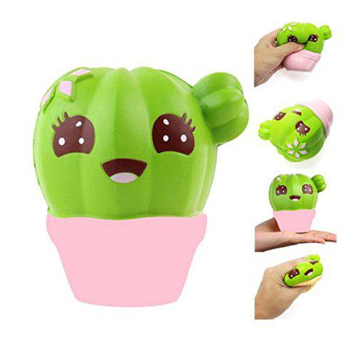 Online Funny Squishies Cactus Slow Rising Toys Rainbow Jumbo Cream Scented Time Killer Squeeze Kid Toy Charm Gift