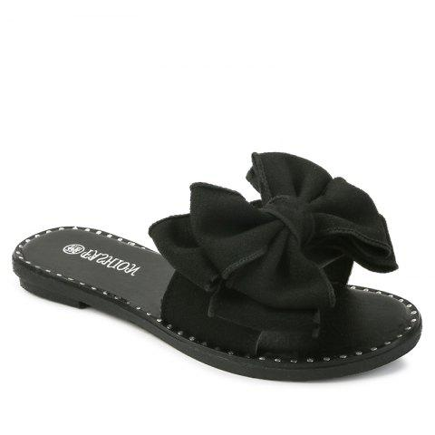 Hot Butterfly Knot Flat Bottomed Beach Sandals