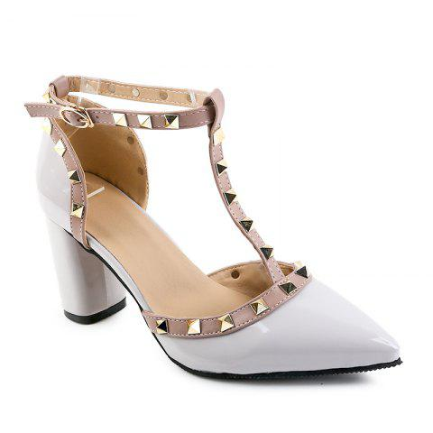 Trendy A Buckle Hollow Pointed Leather Sandals
