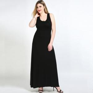 Cute Ann Women's Sexy Sleeveless Long Maxi Plus Size Summer Beach Dress -
