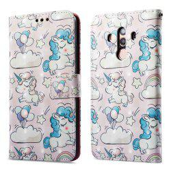 Case For One Plus 5T Pink Pony 3D Painted PU Phone Case -