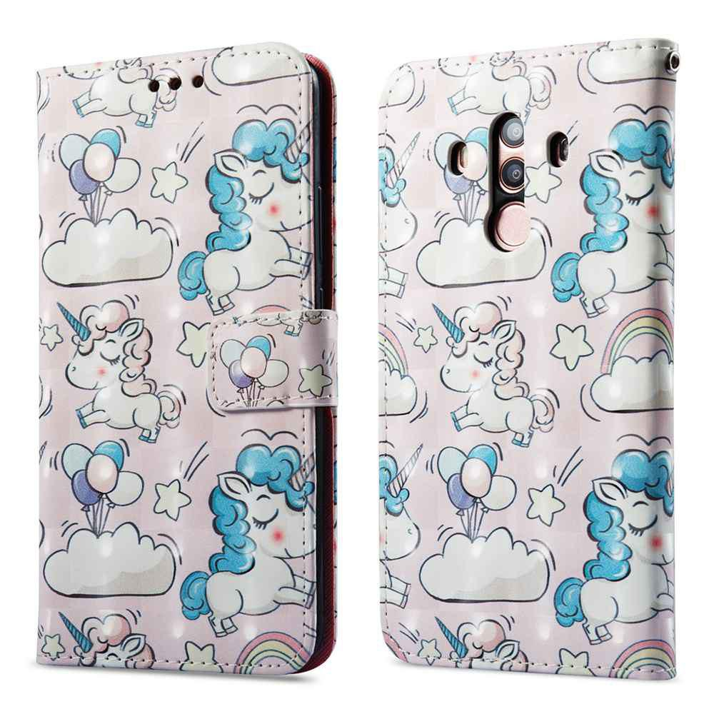 Outfit Case For One Plus 5T Pink Pony 3D Painted PU Phone Case