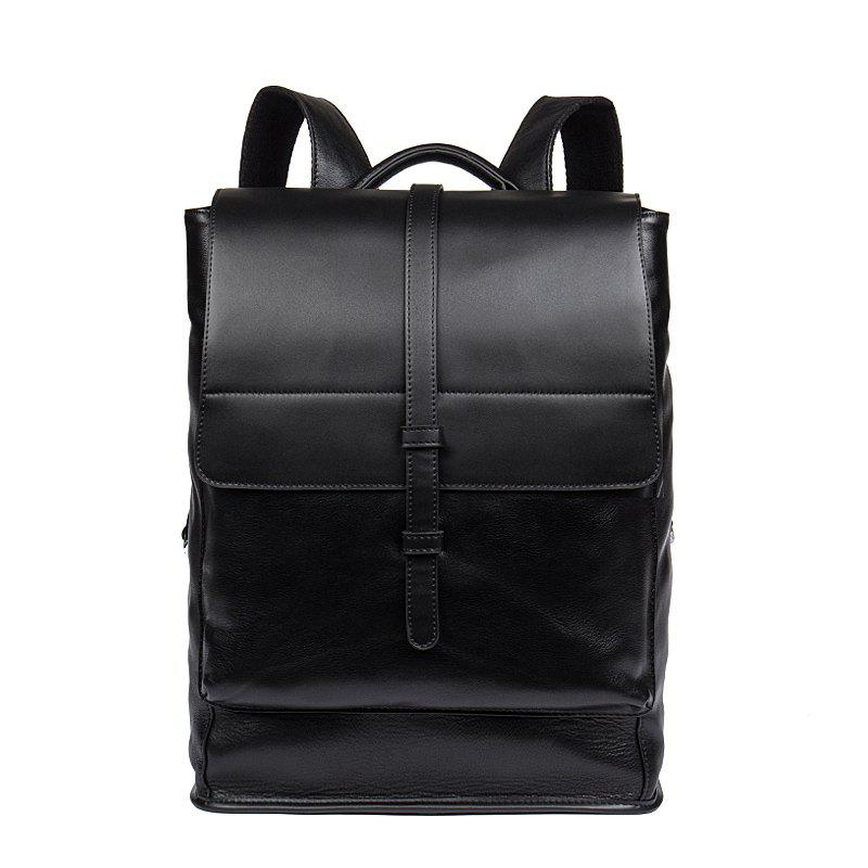 1e13024e3f5 Trendy DANJUE Daily Men Backpack Genuine Leather Men Bag Large Capacity  Travel Bags Male Real Leather
