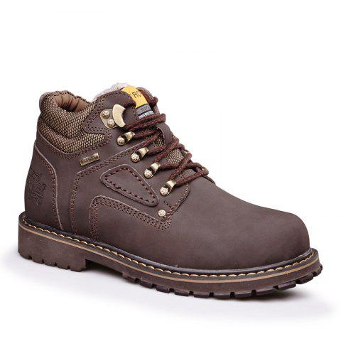 Chic Warm and Comfortable Outdoor Wear Leather Jobon Boots