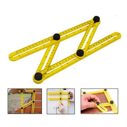 Affordable Four Folding Measurement Tool of Multifunctional Plastic Edge Folding Ruler 4 Changeable Multipurpose Transform